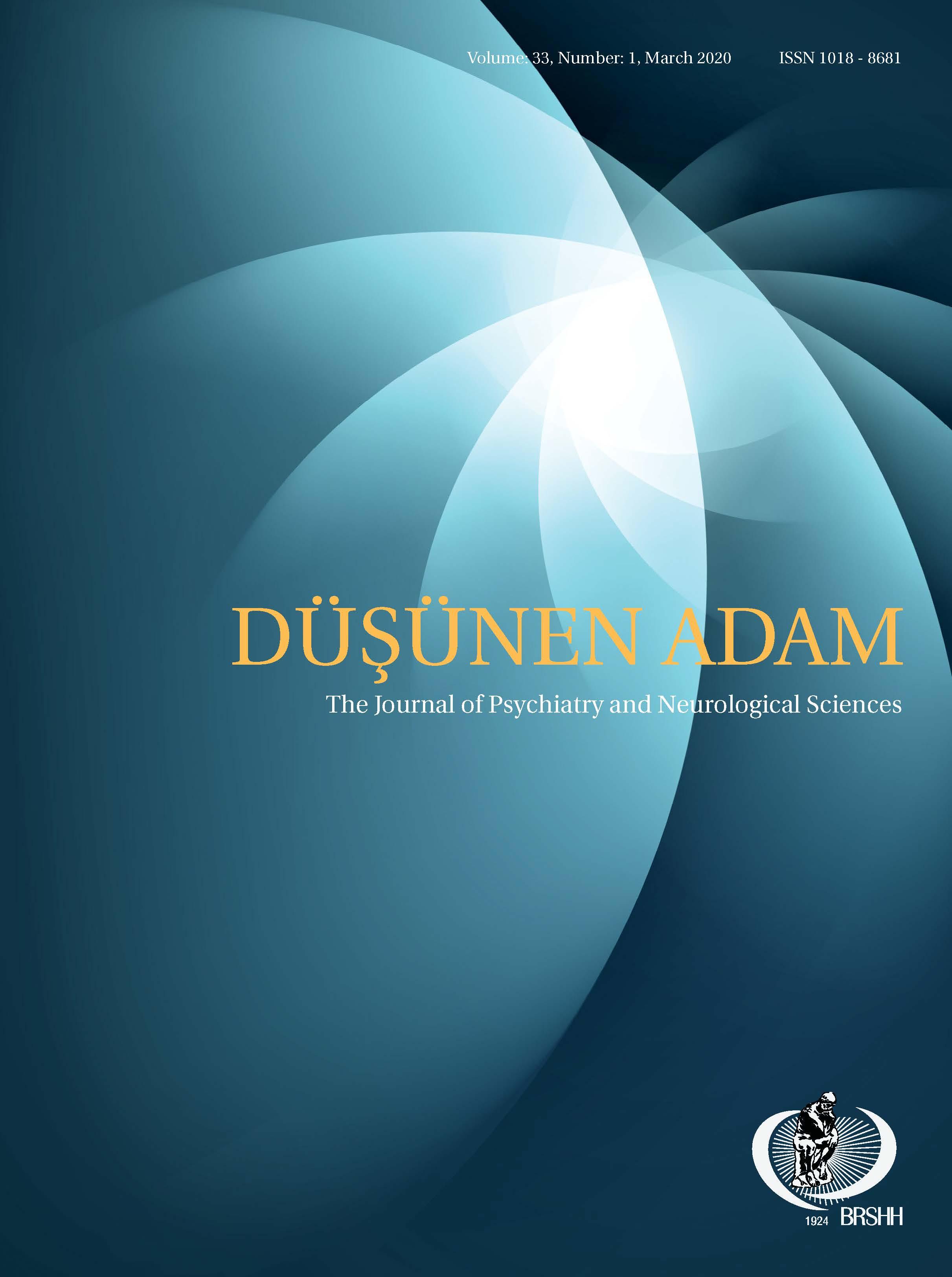 Volume: 33 Issue: 2 Year: 2020 Dusunen Adam The Journal of ...
